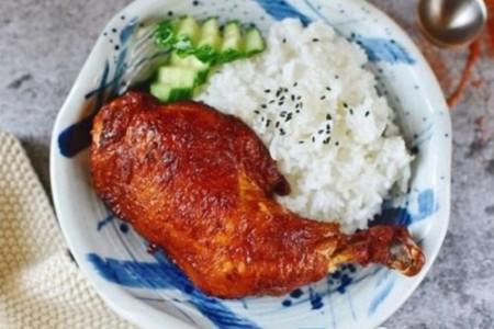 奥尔良鸡腿饭的制作方法